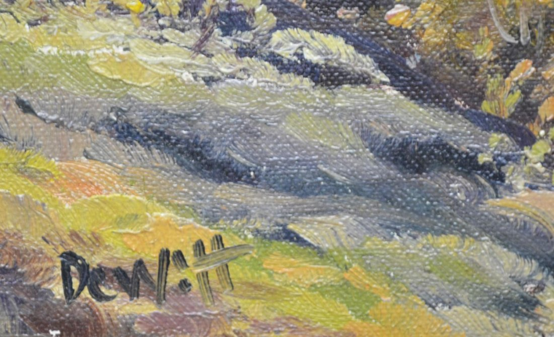 (2) CALIFORNIA PAINTING BY DEWITT & TREED ROAD - 5