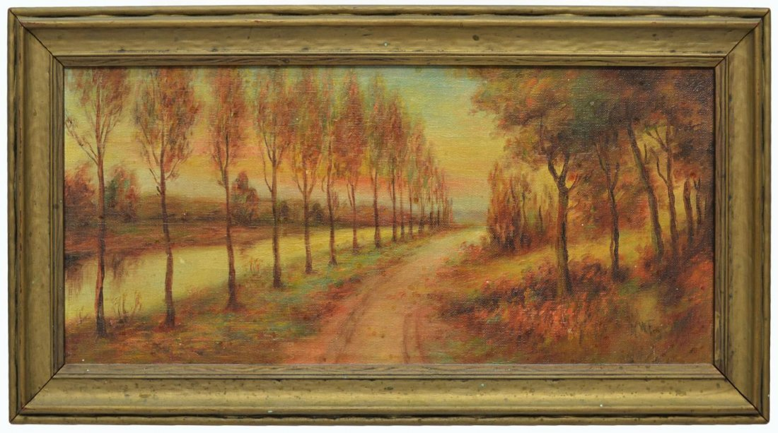 (2) CALIFORNIA PAINTING BY DEWITT & TREED ROAD - 6