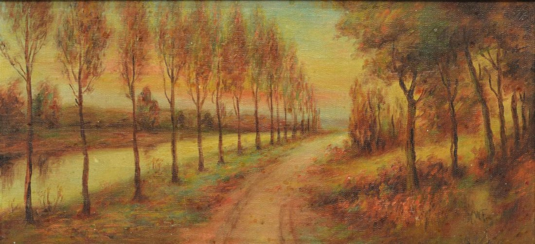 (2) CALIFORNIA PAINTING BY DEWITT & TREED ROAD - 7