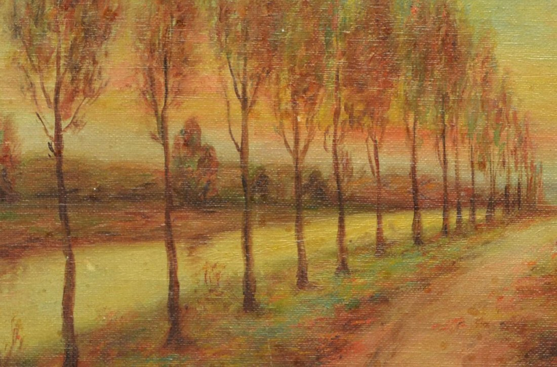 (2) CALIFORNIA PAINTING BY DEWITT & TREED ROAD - 8