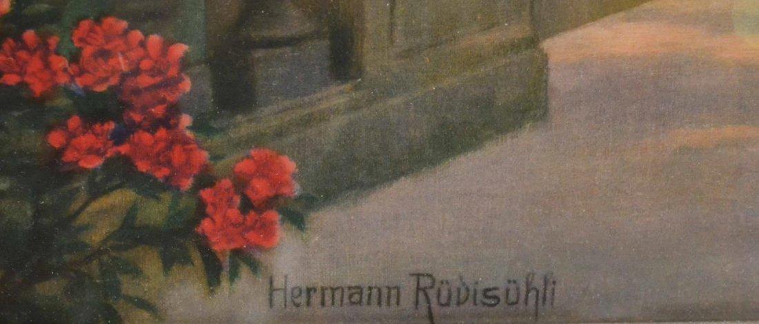 PRINT, LADY & PEACOCKS, HERMANN RUDISUHLI - 5