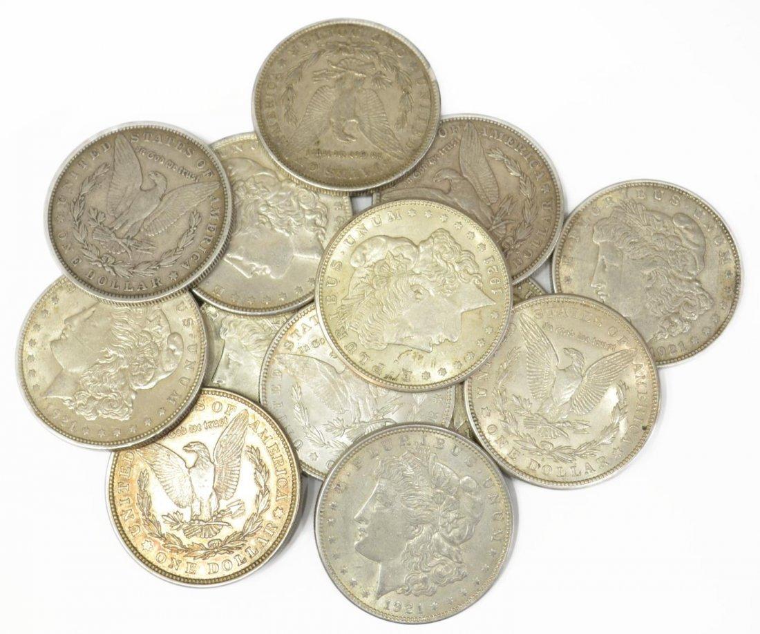 (13) U.S. MORGAN SILVER DOLLARS