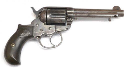 COLT 1877 THUNDERER  41 CAL REVOLVER, FINK HOLSTER