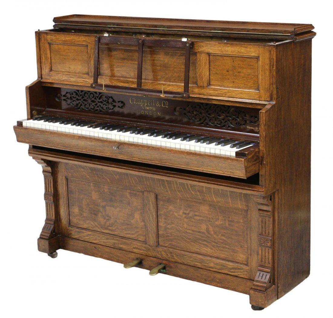 ANTIQUE CHAPPELL & CO. LONDON OAK SHIPS PIANO - 5