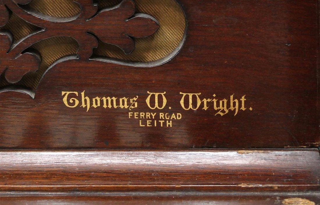ANTIQUE CHAPPELL & CO. LONDON OAK SHIPS PIANO - 8