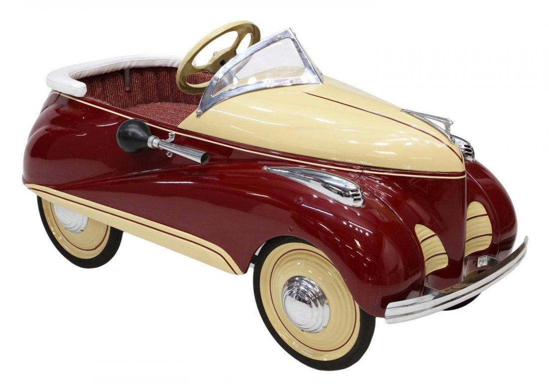 Vintage Steelcraft Lincoln Zephyr Pedal Car