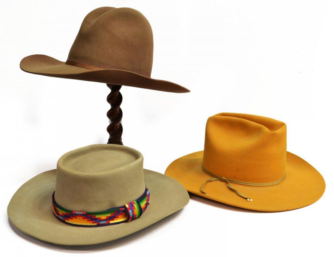 (3) WESTERN COWBOY HATS, TEXAS