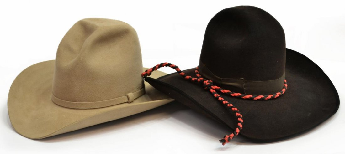 (2)WESTERN COWBOY HATS, ONE RESISTOL TOUCH OF MINK