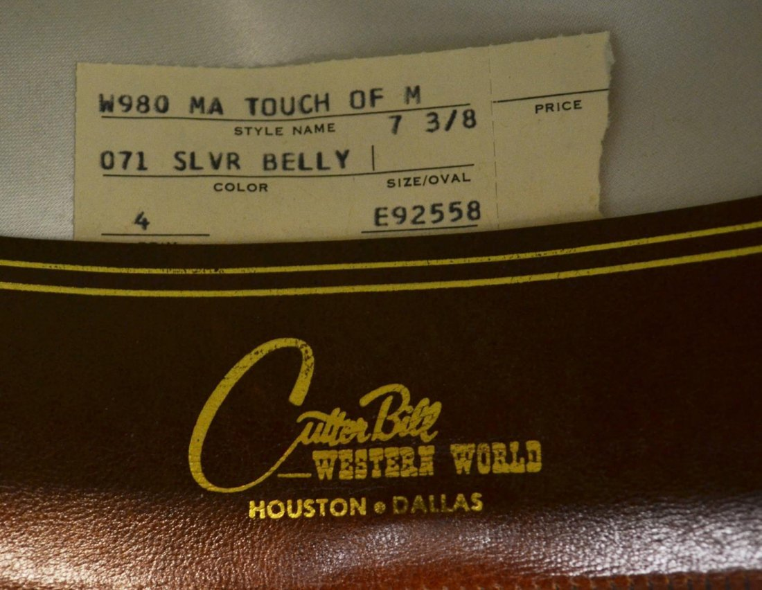 (2)WESTERN COWBOY HATS, ONE RESISTOL TOUCH OF MINK - 4