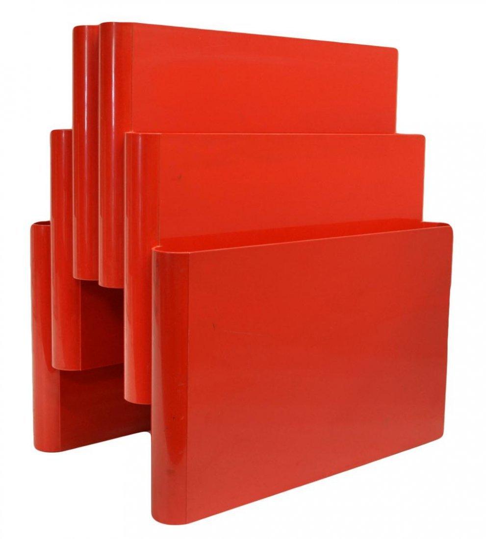 ITALIAN SIX-POCKET RED MAGAZING HOLDER, STOPPINO