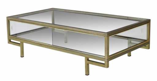 Italian brass glass display coffee table for How to build a coffee table display case