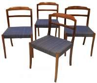 (4) DANISH MID-CENTURY MODERN ROSEWOOD SIDE CHAIRS