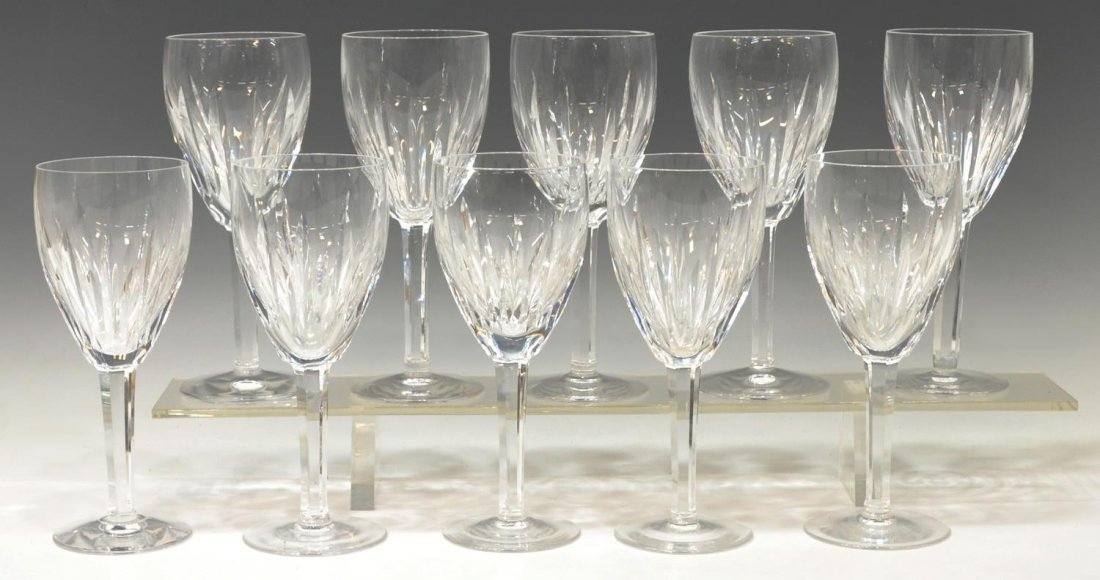 (10) WATERFORD CUT CRYSTAL 'CARINA' CLARET GOBLETS