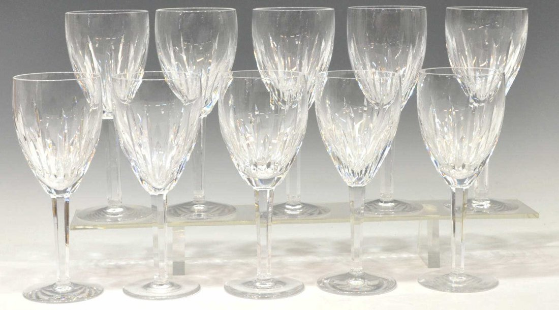 (10) WATERFORD CUT CRYSTAL 'CARINA' WATER GOBLETS