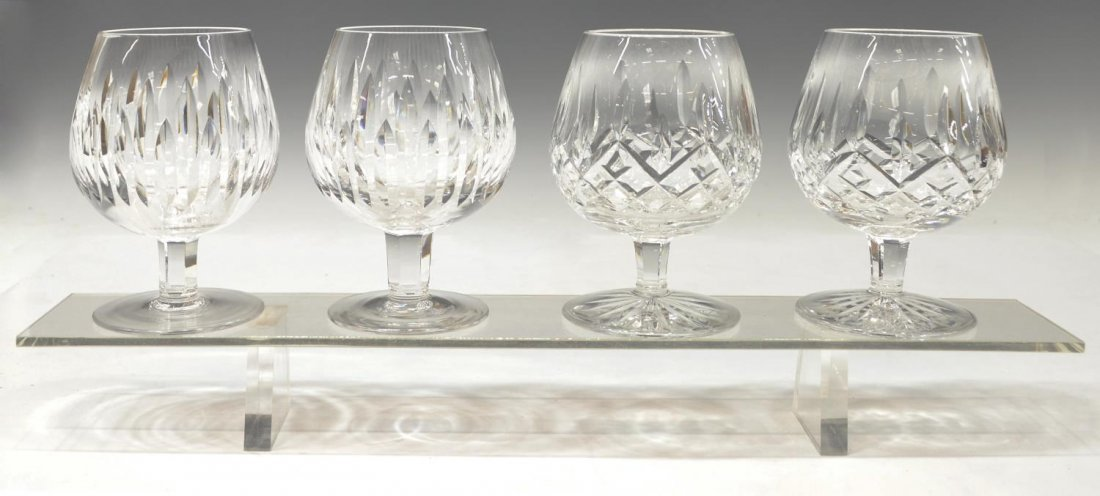 WATERFORD LISMORE & CARINA BRANDY GLASSES