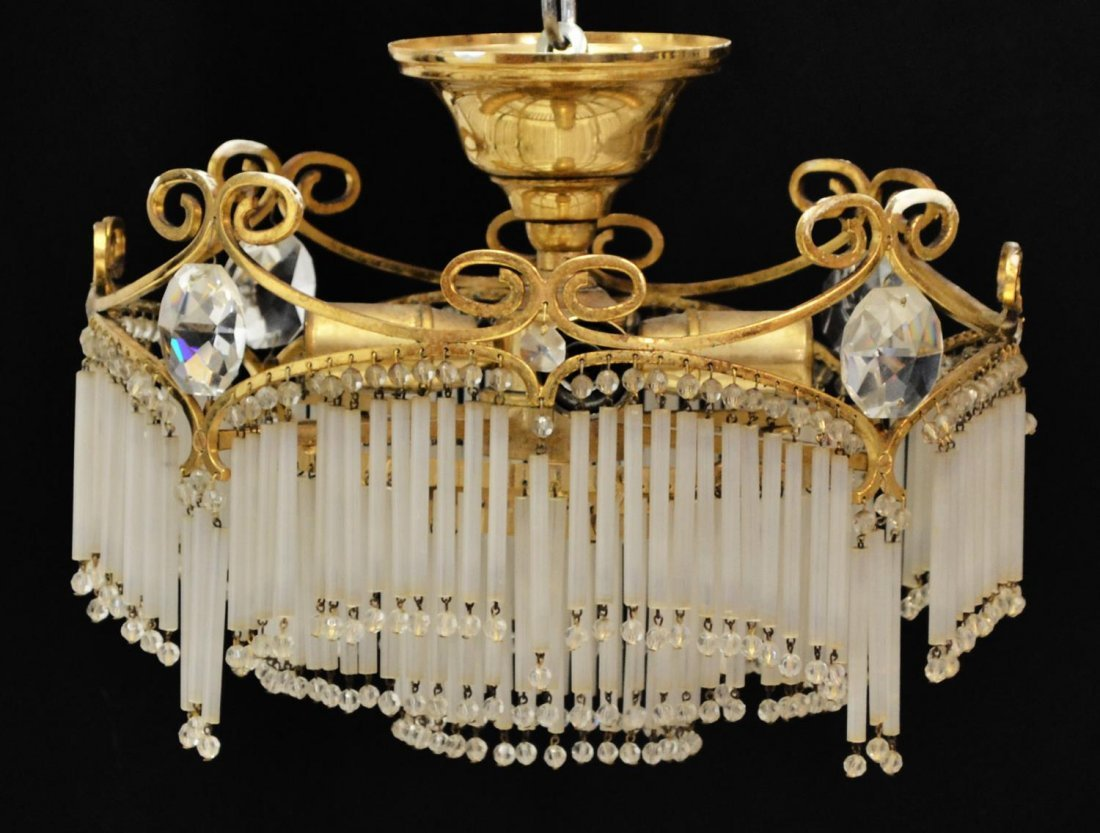 ORNATE SPAIN WEDDING CAKE GLASS STRAW CHANDELIER