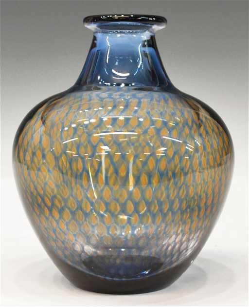 Orrefors Art Glass Kraka Vase Sven Palmquist