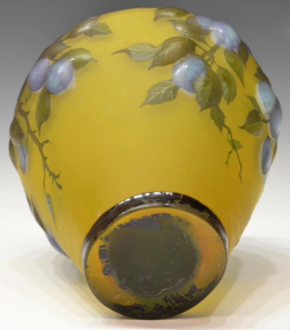 LARGE CAMEO CUT ART GLASS VASE, SIGNED PETRACHE - 4