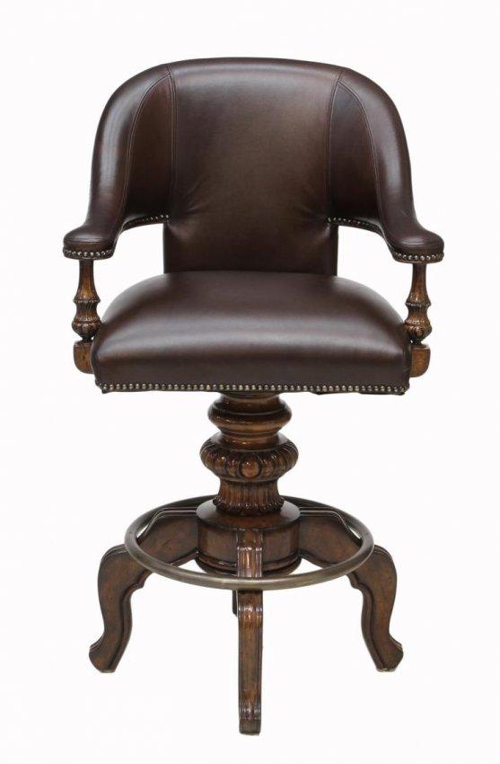 4 Maitland Smith Leather Upholstered Bar Stools Lot 270