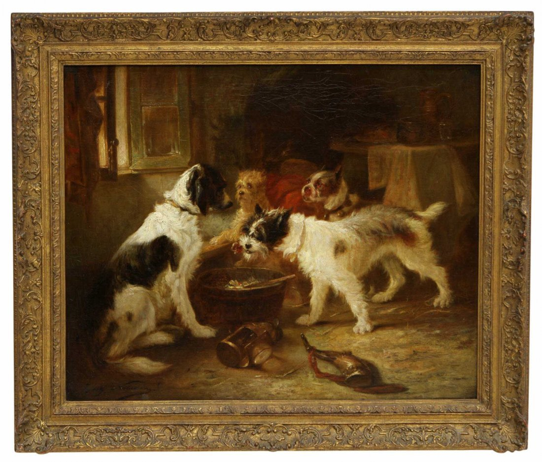 LARGE DOG PAINTING, ZACHARIAS NOTERMAN,1820-1890