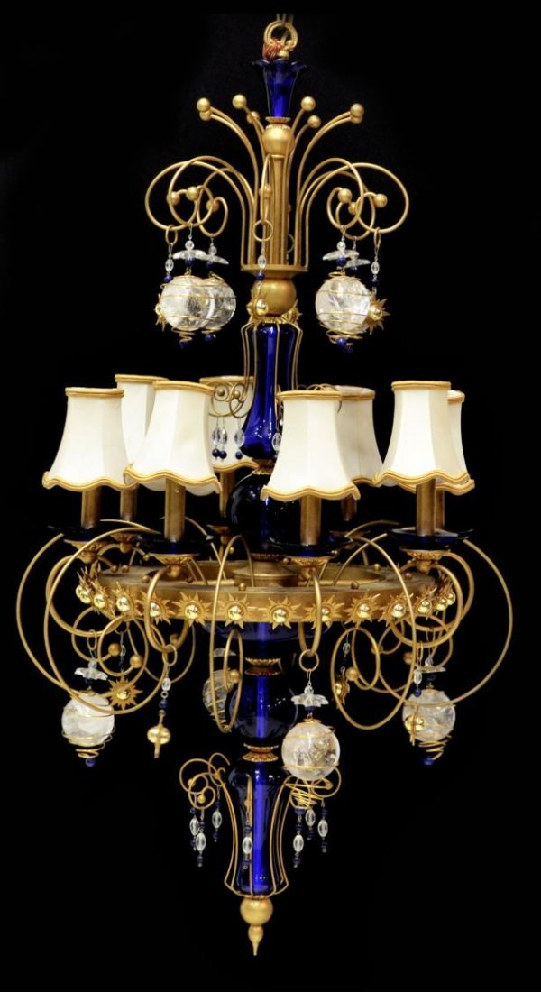 ARTEMIS ROCK CRYSTAL & GLASS CHANDELIER