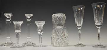 (8) COLLECTION TIFFANY & WATERFORD CUT GLASS ITEMS