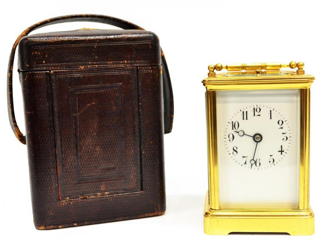 ANTIQUE R&C PARIS REPEATING CLOCK & ORIGINAL CASE