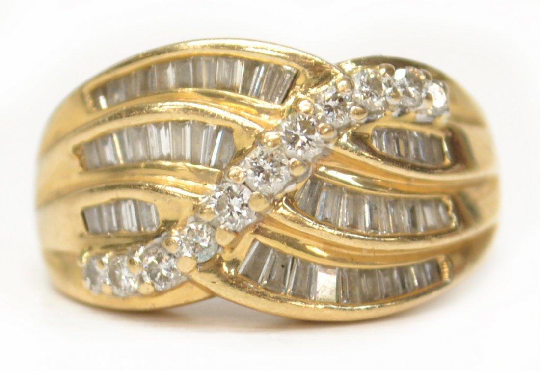 LADIES 14KT YELLOW GOLD & DIAMOND ESTATE RING