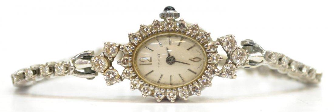 VINTAGE TISSOT 14KT GOLD & 1.95 CT DIAMOND WATCH