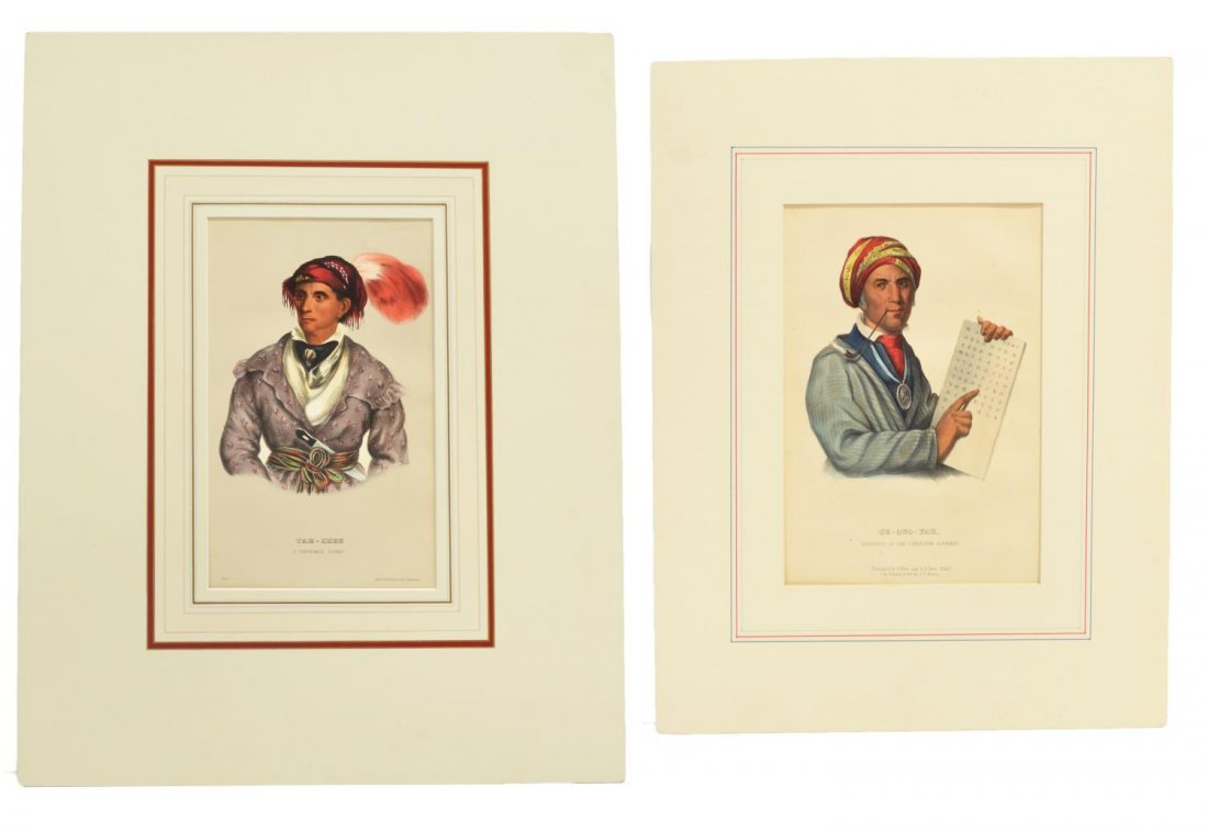(2) MCKENNEY & HALL NATIVE AMERICAN LITHOGRAPHS
