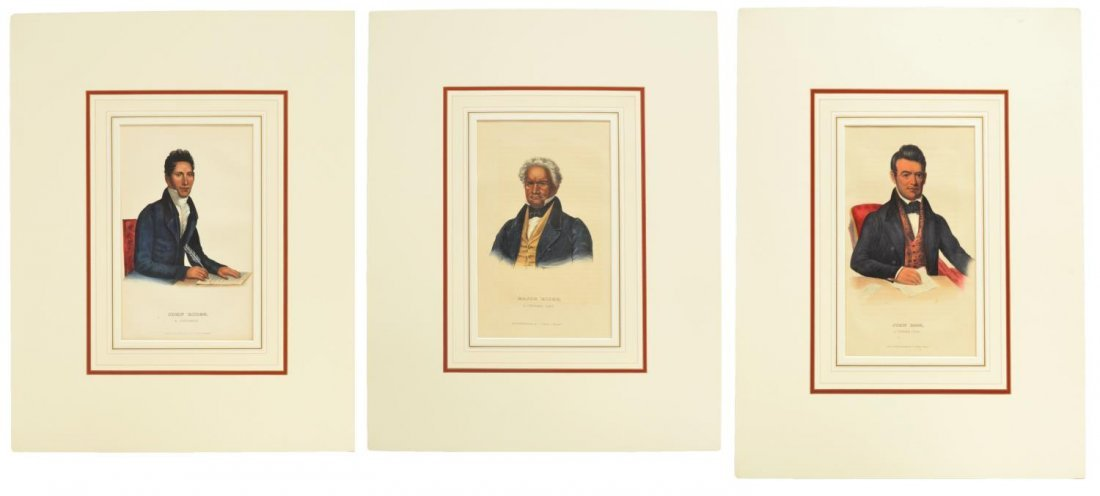 (3) MCKENNEY & HALL NATIVE AMERICAN LITHOGRAPHS