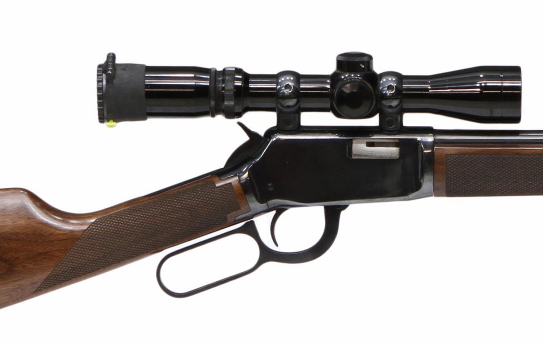 WINCHESTER LEVER ACTION .22 MAG RIFLE BURRIS SCOPE