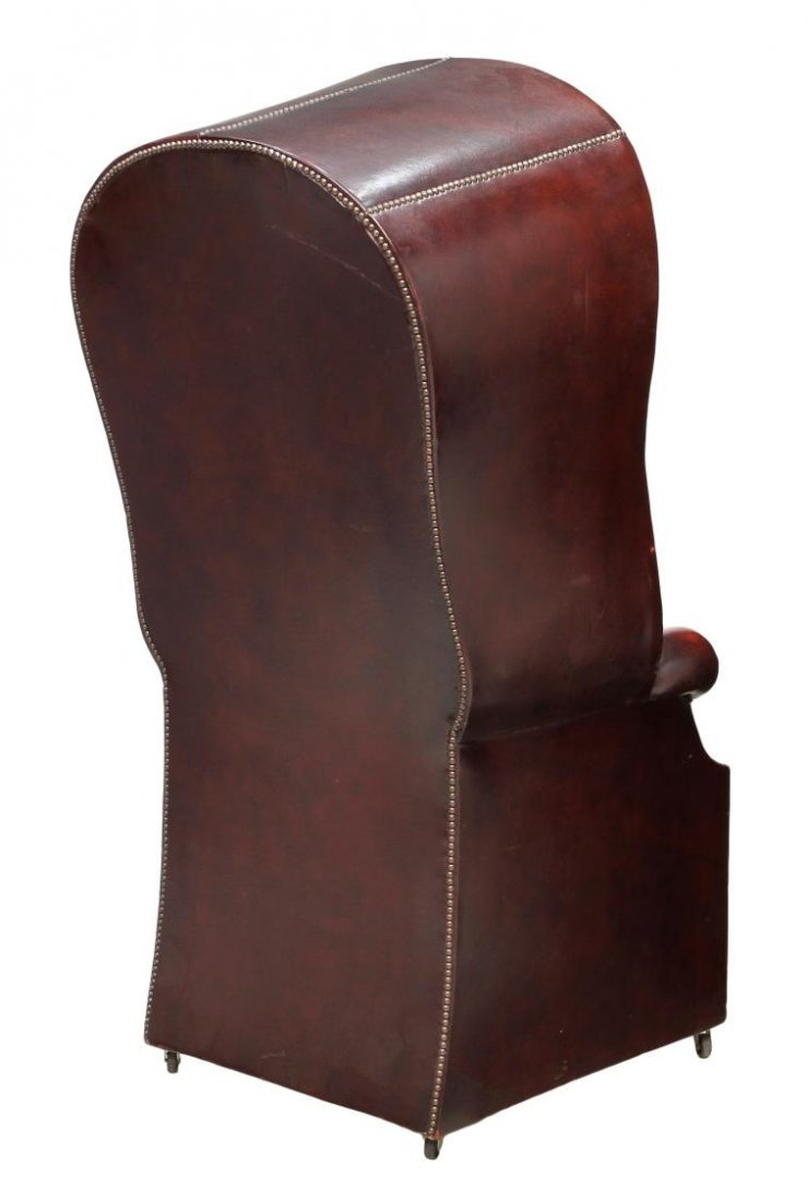 BRITISH CHESTERFIELD BUTTONED LEATHER PORTER CHAIR - 3