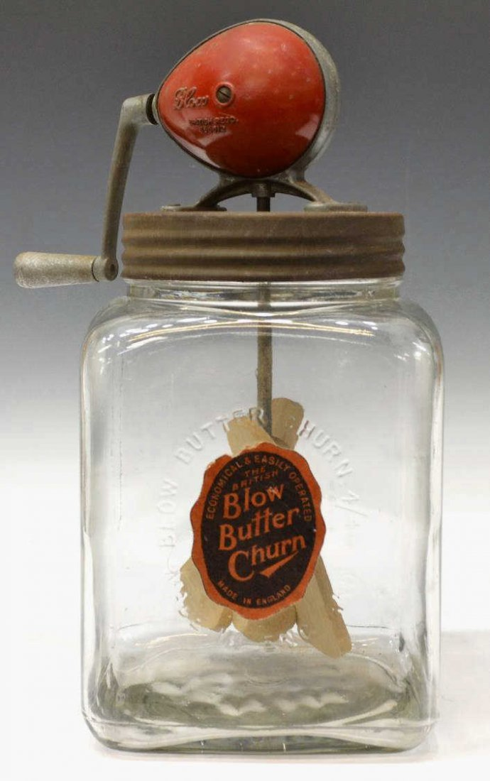 VINTAGE 'THE BRITISH BLOW CHURN CO' BUTTER CHURN