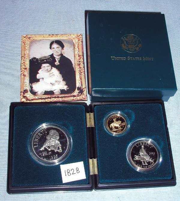 3: 1 1995 CIVIL WAR BATTLEFIELD 3 COIN SET.