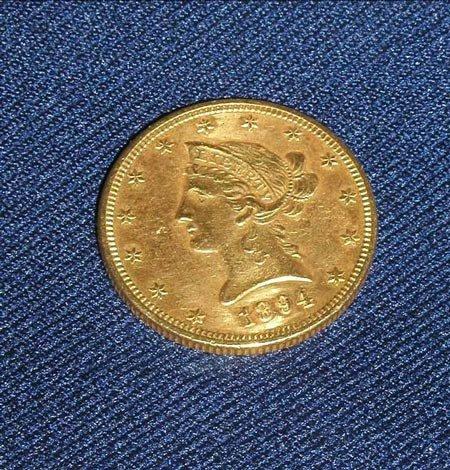 6: 1 1894 $10 LIBERTY GOLD COIN.