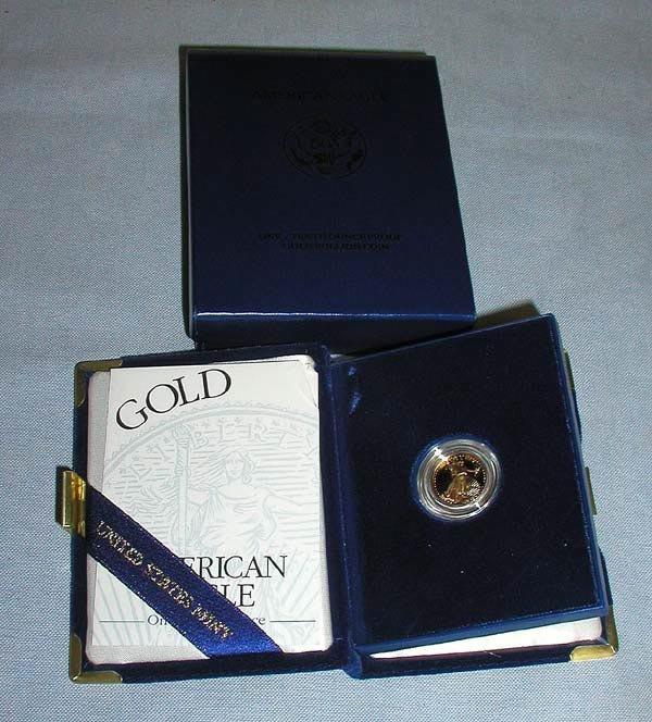 7: 1 1997 $5 1/10 OZ.  GOLD EAGLE PROOF.