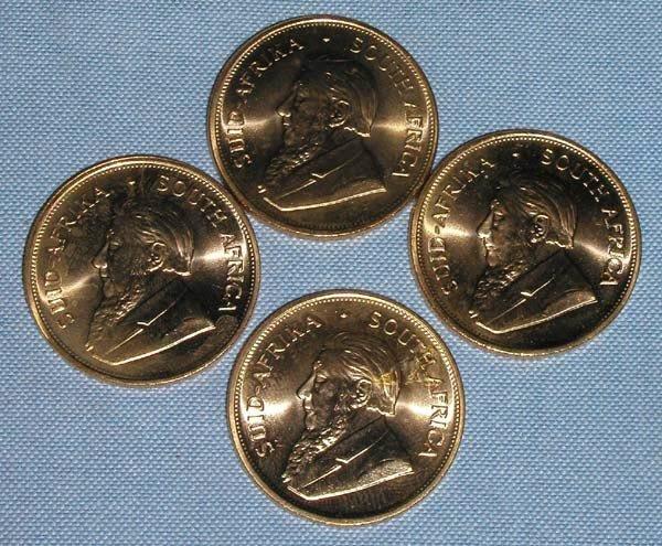 12: 4 ONE OUNCE GOLD KRUGERRANDS 1983.