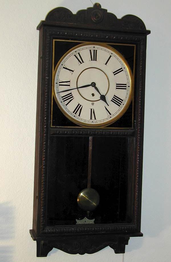 21: 1 WATERBURY WALL CLOCK.  STORE REGULATOR.