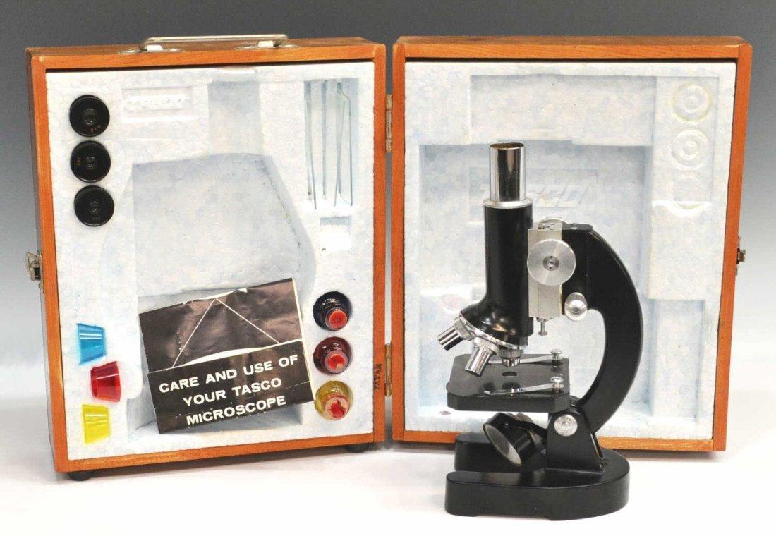 TASCO DELUXE MICROSCOPE, MODEL 1200XK