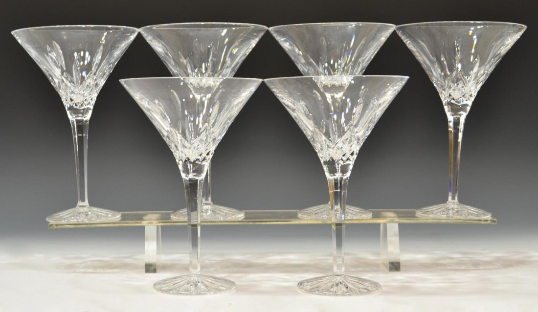(6) WATERFORD 'LISMORE' TALL MARTINI GLASSES