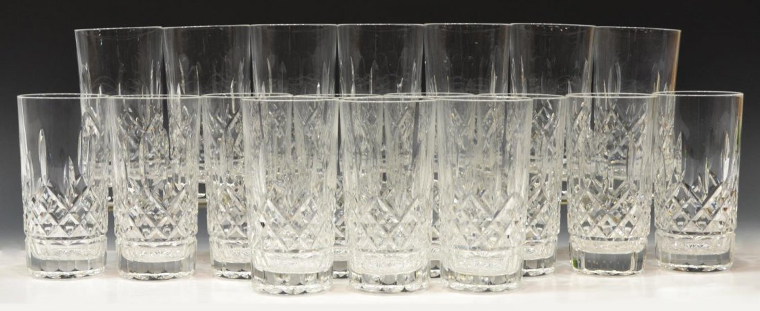 (18) WATERFORD CRYSTAL 'LISMORE' HIGHBALL GLASSES