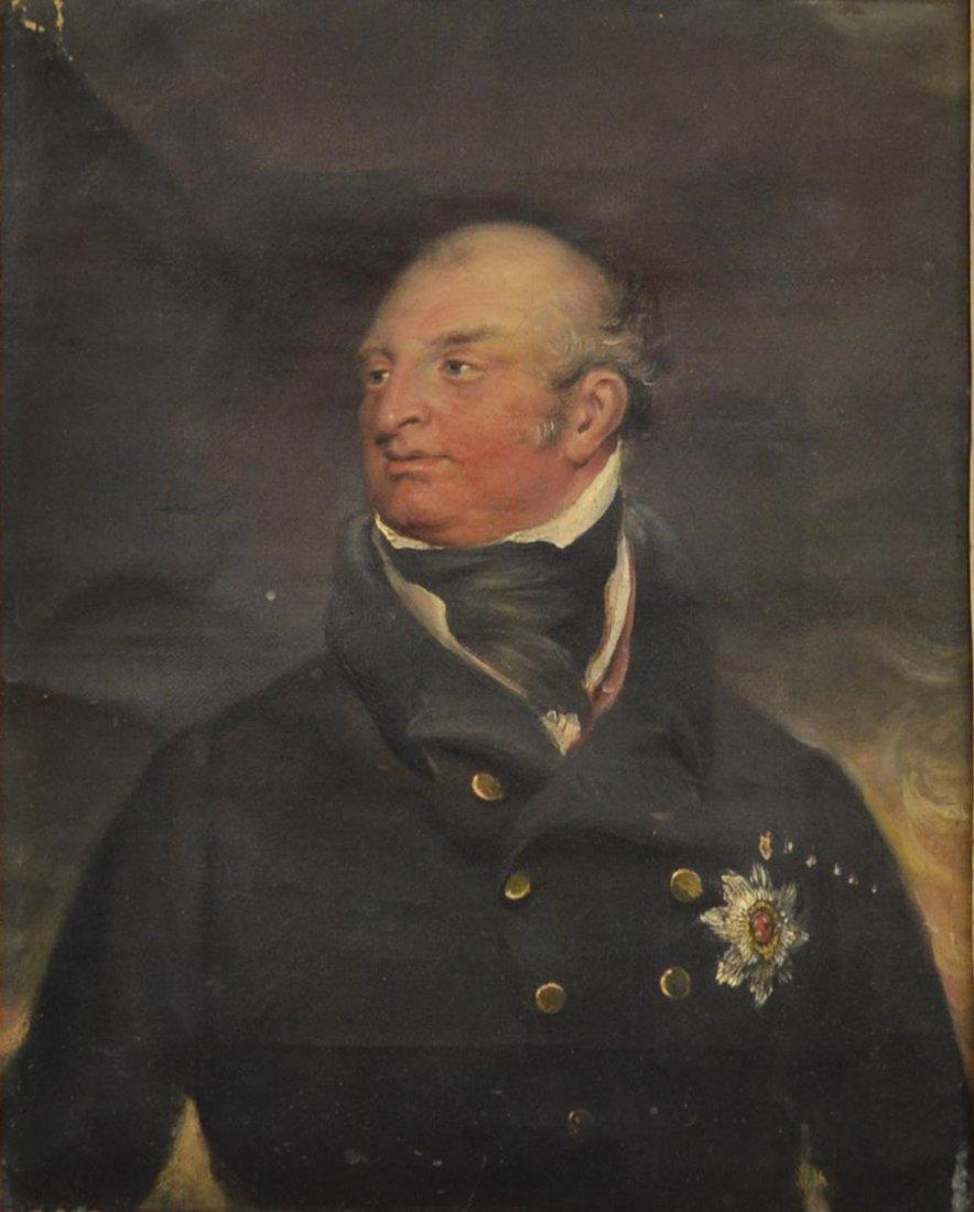 OIL PAINTING, PORTRAIT OF A BRITISH GENTLEMAN