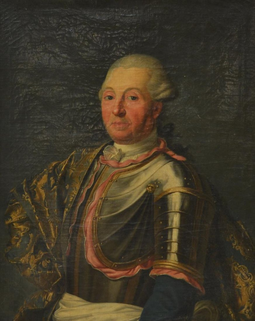 OIL PAINTING, PORTRAIT OF KING, 19TH CENTURY