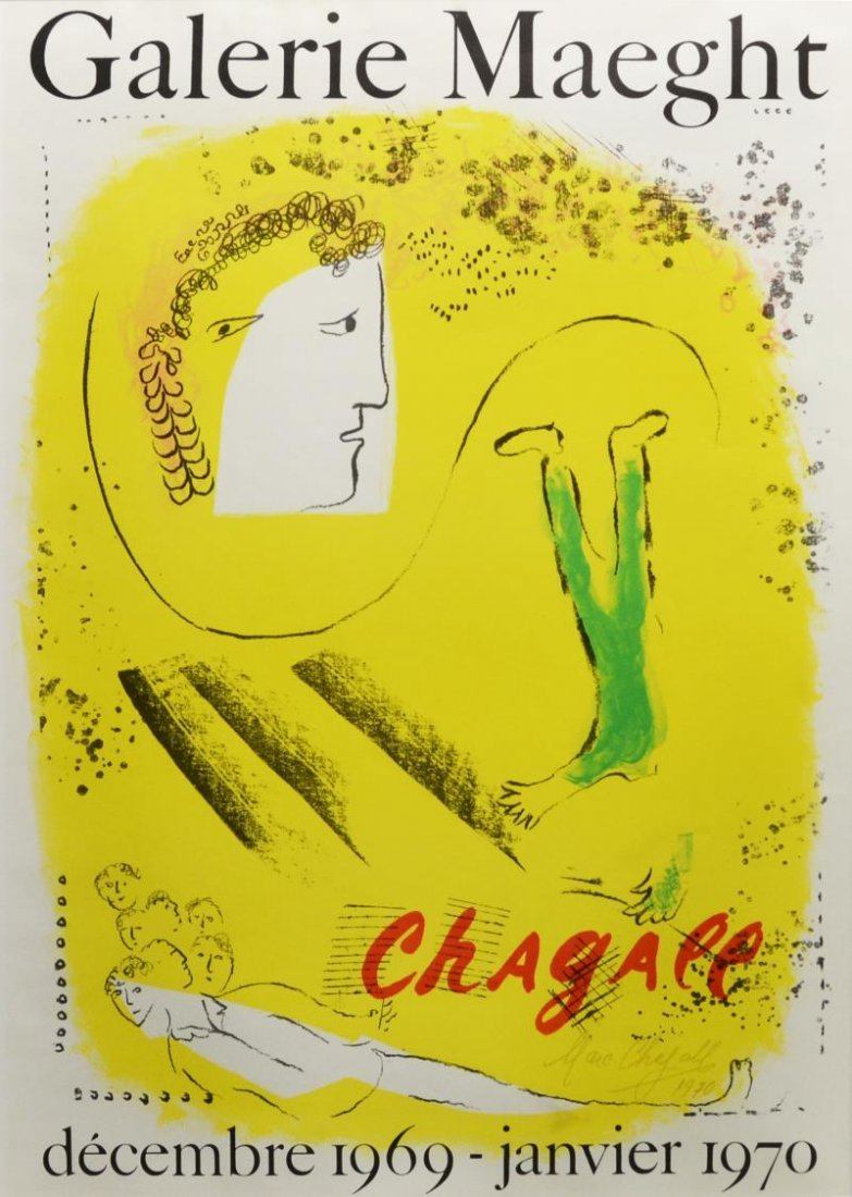 POSTER: GALERIE MAEGHT, MARC CHAGALL, WITH COA
