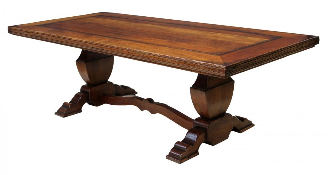 LARGE REFECTORY DINING TABLE