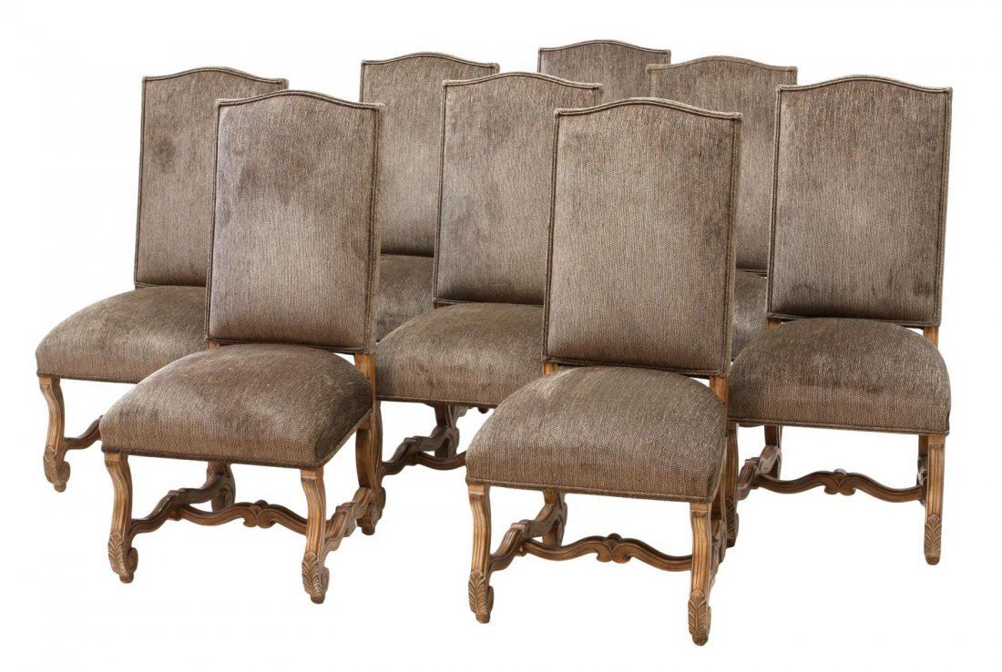 (8) KREISS COLLECTION HIGHBACK DINING CHAIRS
