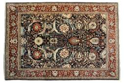 "HAND WOVEN INDO-PERSIAN WOOL RUG, 10' 6.5""L, 8'W"