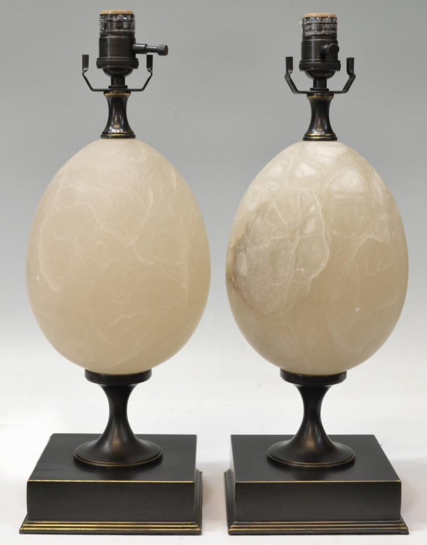 (PAIR) RESTORATION HARDWARE 'EMPIRE EGG' LAMPS - 2