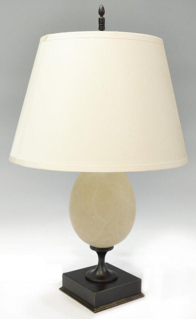 (PAIR) RESTORATION HARDWARE 'EMPIRE EGG' LAMPS - 3